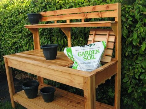 free potting bench plans raised garden bench garden easy on the eye plans for