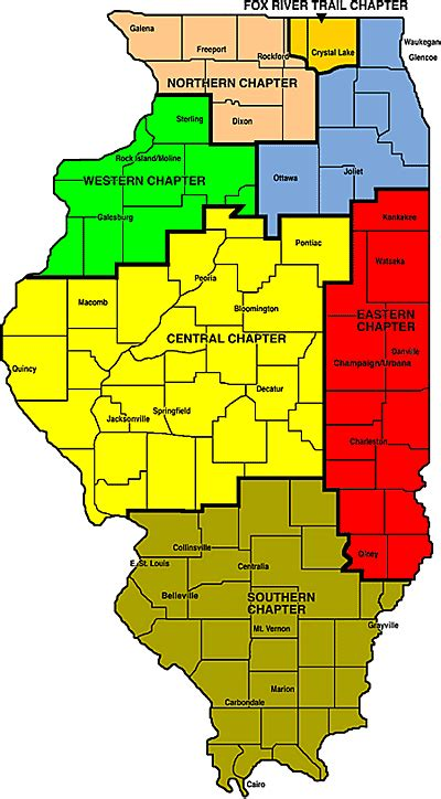chicago county map chapter maps