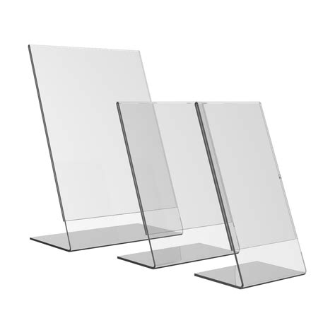 Acrylic Stand acrylic slant back sign holder ores display systems