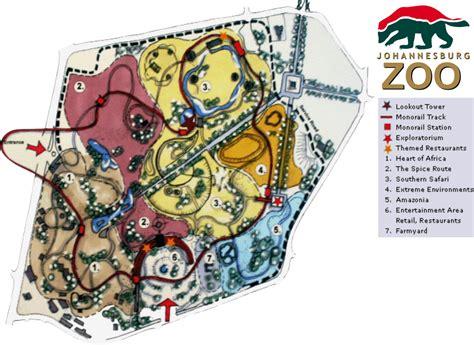 africa zoo map map of johannesburg zoo