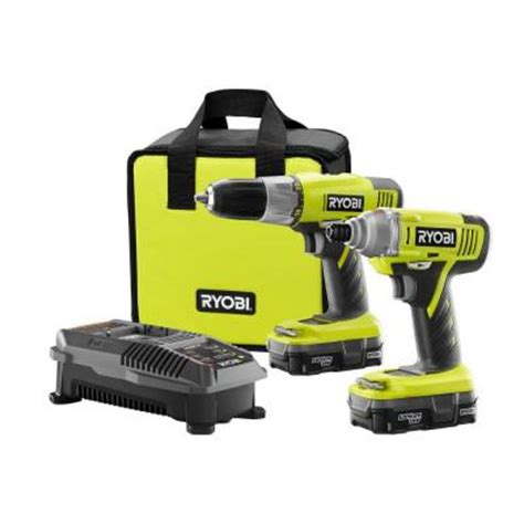 ryobi 18 volt one lithium ion drill driver and impact