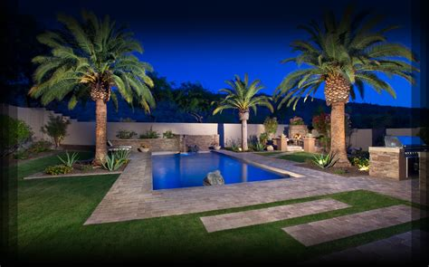 Backyard Pools In Arizona Desert Pool Landscaping Arizona Pool