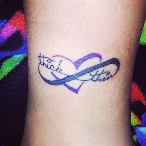love always through thick and thin infinity tattoos