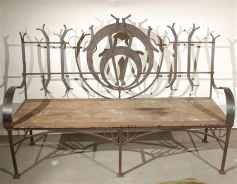wrought iron benches outdoor wrought iron garden bench at 1stdibs