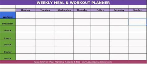 Http Coachpaulachavez Blogspot Com 2014 09 Weekly Meal Workout Planner Html Helpful Tips Weekly Meal Planner Template With Snacks