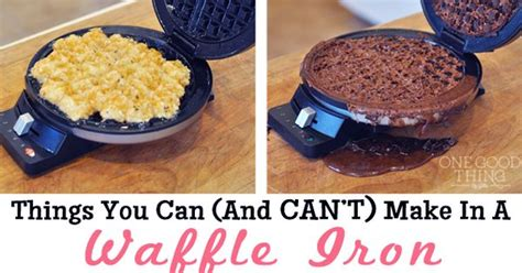things you can and can t make in a waffle iron a well pizza and bacon