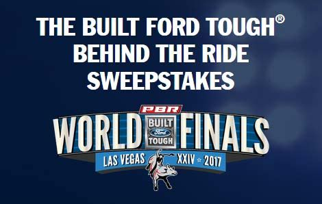 Pbr Ford Truck Giveaway 2017 - pbr com ford built ford tough behind the ride
