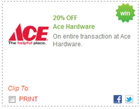 ace hardware discount 20 entire purchase at ace hardware