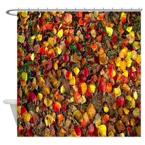 Fall Shower Curtains Colorful Fall Leaves Autumn Shower Curtain By Rebeccakorpita