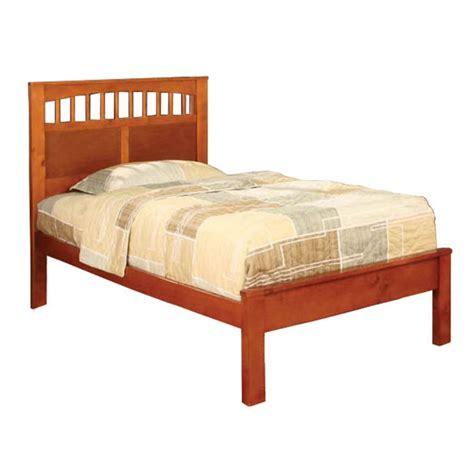 oak twin bed venetian worldwide carus twin bed oak finish