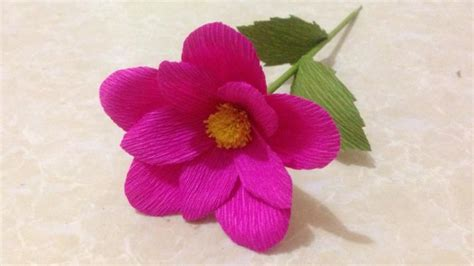 How To Make Simple Crepe Paper Flowers - how to make simple crepe paper flowers flower of