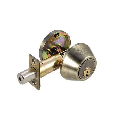 Discount Door Knobs by Dorex Signature Deadbolt Antique Brass Discount Door