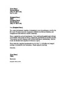 How To Complete A Cover Letter by Request To Complete Enclosed Survey Letter Templates