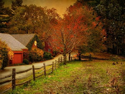 Fall Farmhouse Wallpaper An Autumn Farm Other Abstract Background Wallpapers On