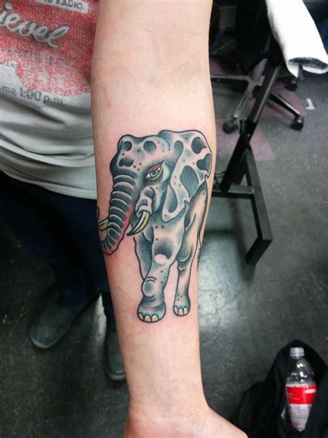 tattoo old school elephant old school elephant tattoo