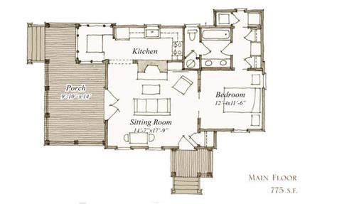 our town house plans 7 7 our town plans peachtree architects 775 sq ft