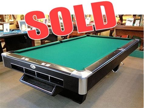 How Big Is A Regulation Pool Table by Sold Pre Owned Quot Big G Quot Gandy Commercial Grade 9ft