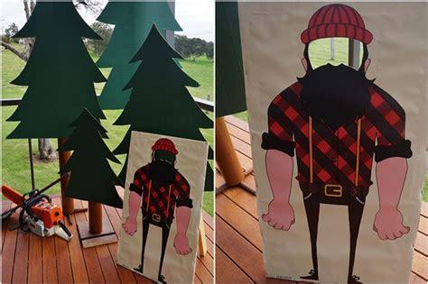 Kaos Pine Tree lumberjack 2nd birthday pretty my