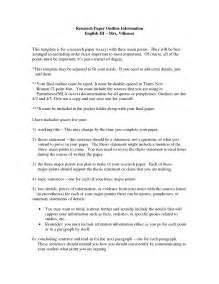 Research Essay Template by Research Paper Exle