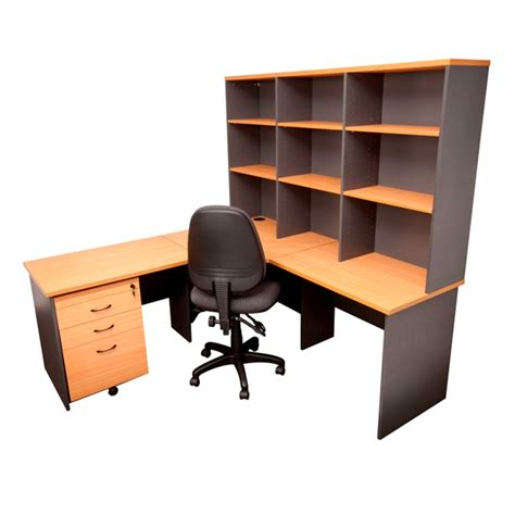 corporate corner workstation hutch mobile drawer and
