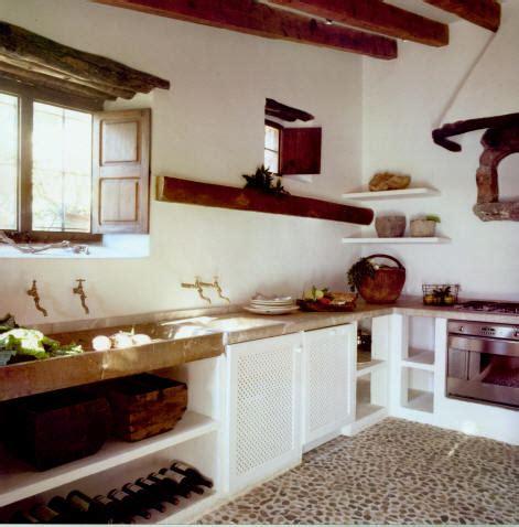 cocina blanca  madera  piedra muebles de cocina