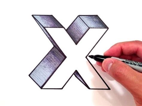 Drawing X by How To Draw The Letter X In 3d
