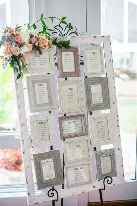 wedding seating plan photo frame vintage picture frame seating chart one day