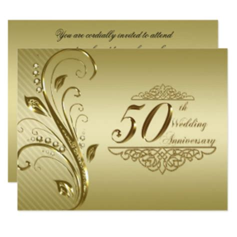50th Wedding Anniversary Card Uk 50th wedding anniversary invitations announcements