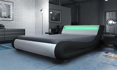 bed frame with led lights manhattan bed frame with led s groupon goods