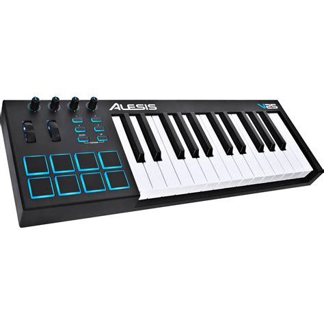 Keyboard Midi Usb alesis v25 25 key usb midi keyboard controller v25 b h photo