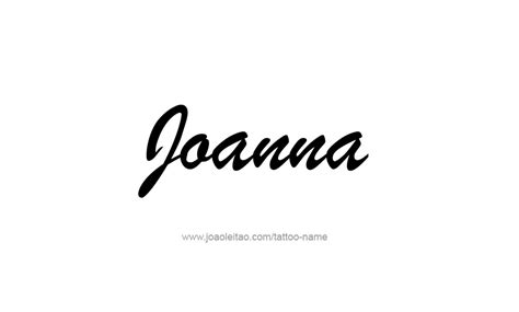 Tattoo Lettering For Joanna | joanna name tattoo designs