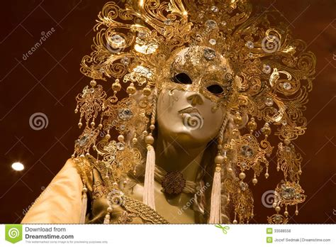 Pibamy Gold Mask Pibamy Time Gold Mask venice luxury decoration mask royalty free stock photos image 33588558