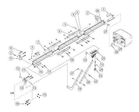 ac drive retail rail garage door operators