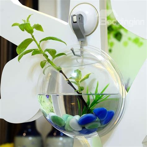 Acrylic Fish Bowl Vase creative acrylic wall flower vase mini fish bowl