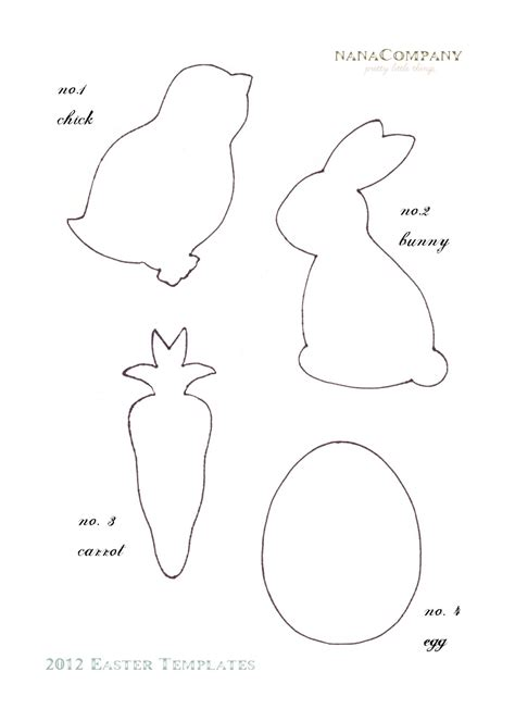 Easter Bunny Templates Printable Free early play templates free easter animal templates