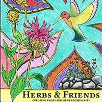 botanicals and friends a playful therapy colouring book books thyme garden herb company organically grown herbs herb