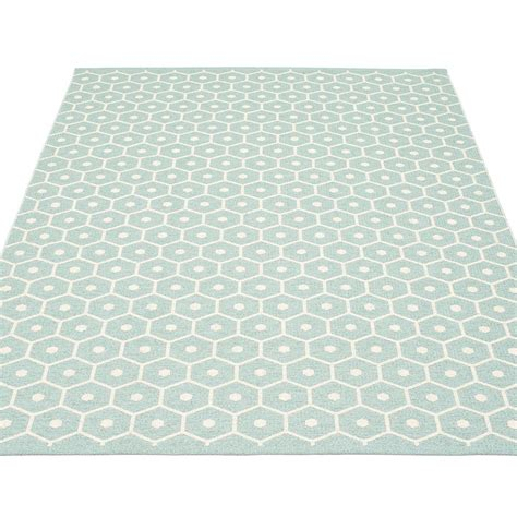 Pappelina Honey Large Rug Pale Turquoise Hus Hem Large Rugs