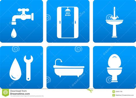 Plumbing Free by Set Of Plumbing Icons Stock Illustration Image Of Drop