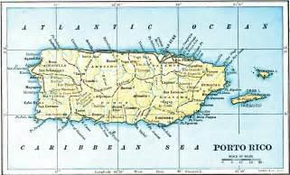 Map Puerto Rico by Porto Rico Map 1903 La Chuleta Congel 193
