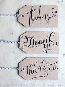 Free Printable Thank You Tags Template by Concertina Press Stationery And Invitations Diy