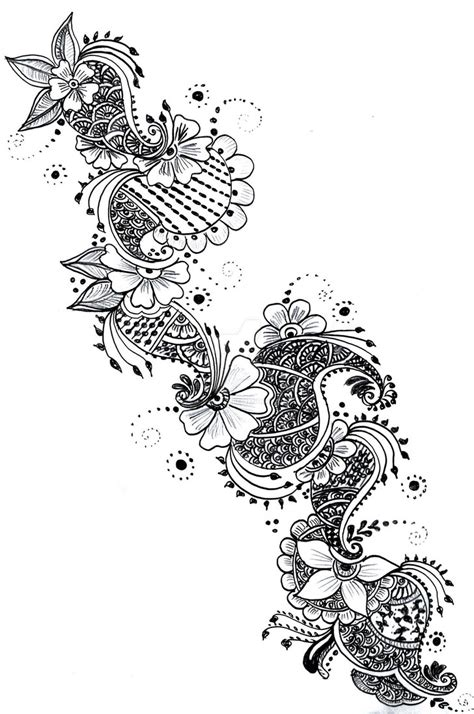 tattoo design paper henna paper sketch series 1 by curlykutti on deviantart