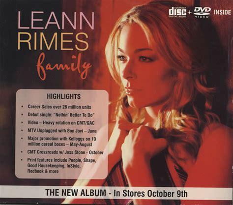 Cd Leann Rimes Family leann rimes family us promo 2 disc cd dvd set 475030