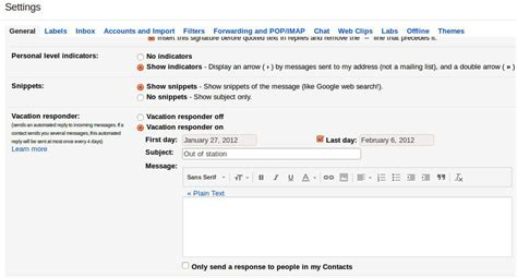 Out Of Office Gmail by How To Set Up An Out Of Office Vacation Auto Reply In Gmail