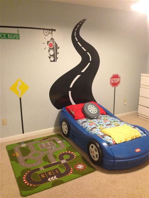 boys bedroom ideas cars race car toddler room judah s big boy room pinterest