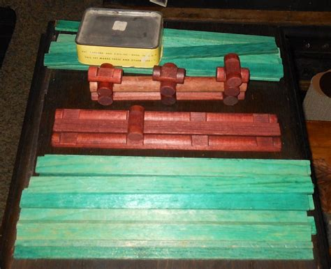 antique lincoln logs vintage lincoln log set 1950s collectors weekly