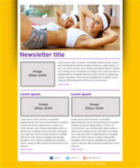 Document Moved Free Fitness Newsletter Templates