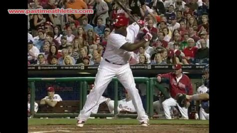 the perfect baseball swing in slow motion ryan howard slow motion baseball swing hitting mechanics
