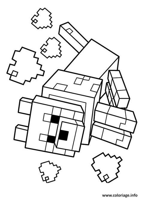 amy minecraft coloring pages coloriage minecraft le loup 1 dessin