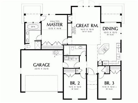 1500 square foot floor plans open floor plans 1500 square house plans from