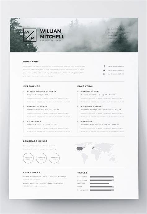 Resume Template Illustrator by 7 Free Editable Minimalist Resume Cv In Adobe Illustrator